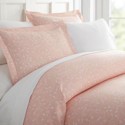 Casual Comfort Premium Ultra Soft Pink Buds Duvet Cover Set