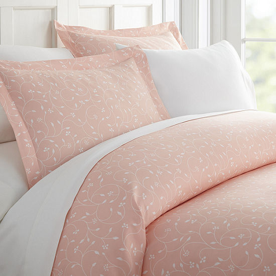 Casual Comfort Premium Ultra Soft Pink Buds Duvet Cover Set