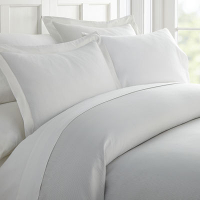 Casual Comfort Premium Ultra Soft Pinstriped Duvet Cover Set