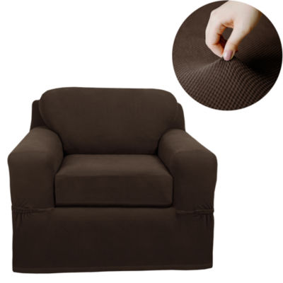 Maytex Smart Cover® Pixel Textured Mini Dot Stretch 2 Piece Chair Furniture Cover Slipcover