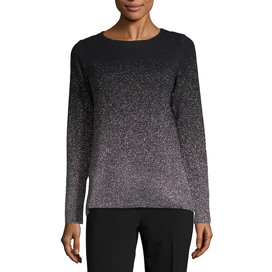 Liz Claiborne Womens Boat Neck Long Sleeve Ombre Pullover Sweater - JCPenney e568abea8