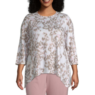 Alfred Dunner Home For The Holidays Animal Blouse - Plus