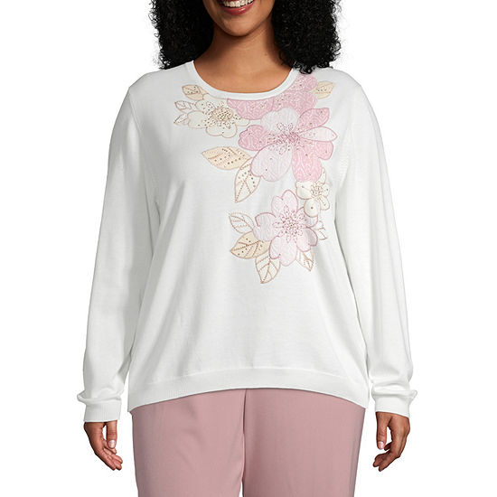 Alfred Dunner Home For The Holidays Asymmetrical Sweater Plus