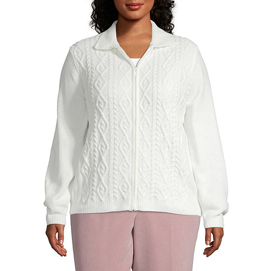 Alfred Dunner Home For The Holidays Chenille Cardigan - Plus