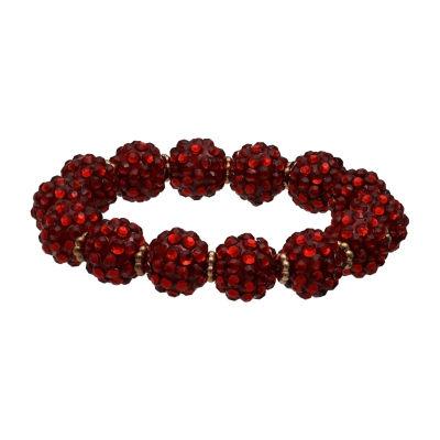 Mixit Red Fireball Womens Stretch Bracelet
