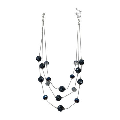Mixit Womens Blue Illusion Fireball Necklace