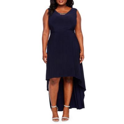 Scarlett Sleeveless Embellished Fit & Flare Dress-Plus
