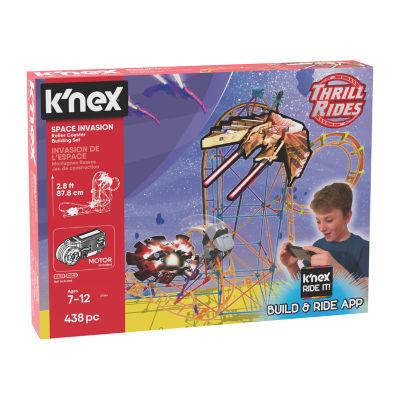 K'NEX Thrill Rides  Space Invasion Roller Coaster Building Set with K'NEX Ride It! app  438 Pieces