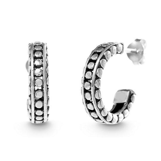 Willowbird Sterling Silver 17mm Curved Hoop Earrings