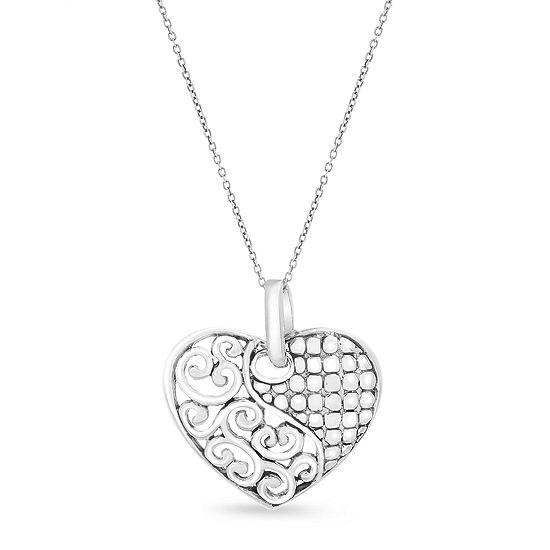 Willowbird Womens Sterling Silver Heart Pendant