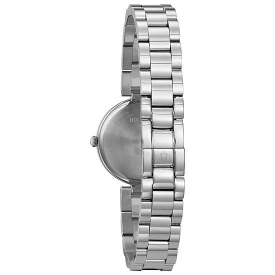 Bulova Classic Womens Silver Tone Bracelet Watch-96l229
