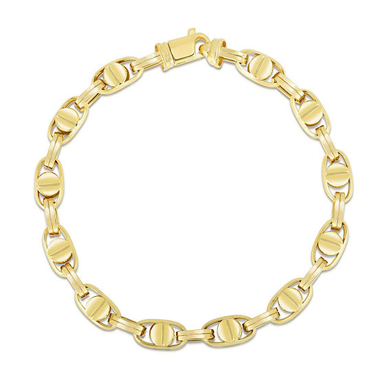 10k Gold 9 Inch Semisolid Link Chain Bracelet