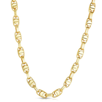 10K Gold 22 Inch Semisolid Chain Necklace