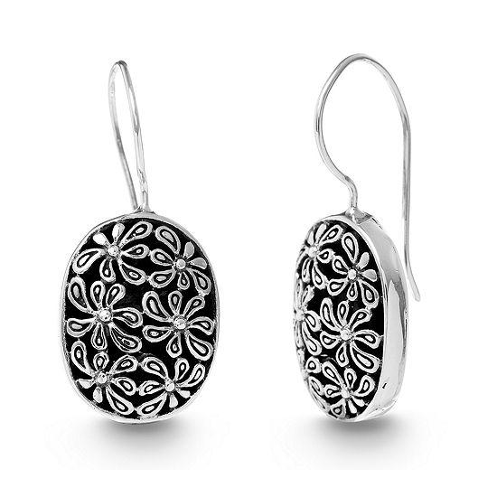 Willowbird Sterling Silver Oval Drop Earrings