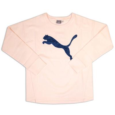 Puma Long Sleeve Logo Sweatshirt - Girls Preschool