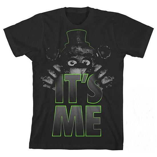 Boys Crew Neck Short Sleeve Five Nights at Freddys Graphic T-Shirt - Preschool / Big Kid