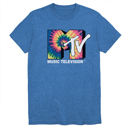 Mens Crew Neck Short Sleeve Mtv Graphic T Shirt Big And Tall