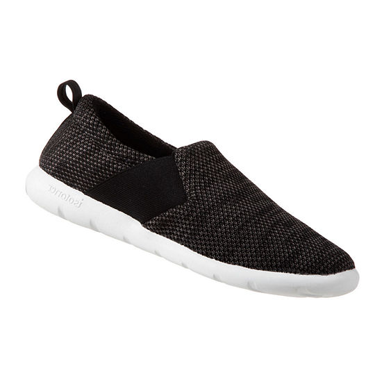 Zenz From Isotoner Wide Elastic Closed Back Womens Slip-On Slippers