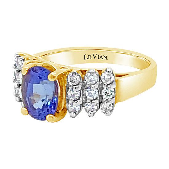 Le Vian Grand Sample Sale™ Ring featuring Blueberry Tanzanite® Vanilla Diamonds® set in 14K Two Tone Gold