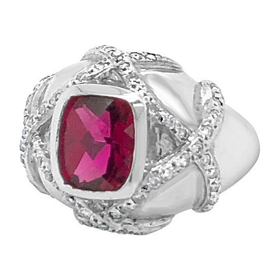 Le Vian Grand Sample Sale™ Ring featuring Raspberry Rubellite™ Vanilla Diamonds® set in 14K Vanilla Gold®