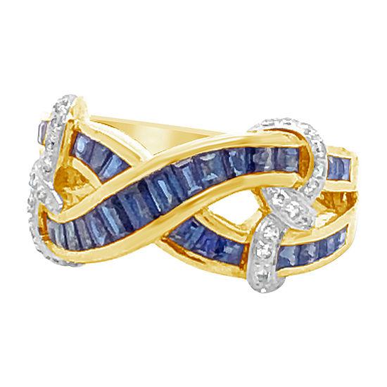 Le Vian Grand Sample Sale™ Ring featuring Blueberry Sapphire™ Vanilla Diamonds® set in 18K Honey Gold™