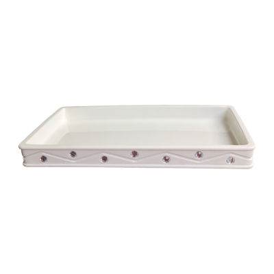 Popular Bath Diamond Wave Vanity Tray