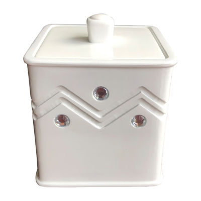 Popular Bath Diamond Wave Bathroom Canister