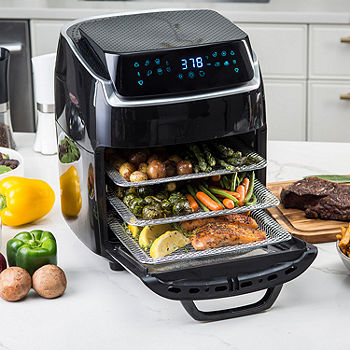 Aria 10Qt Air Fryer Oven With Rotating Rotisserie, Dehydration ...