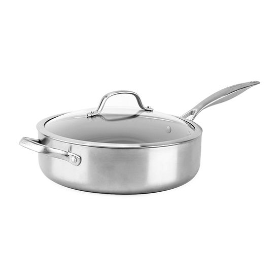 GreenPan Venice Stainless Steel Ceramic 1.5 Qt Non-Stick Covered Saute Pan