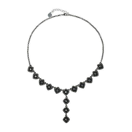 Liz Claiborne 20 Inch Cable Square Y Necklace