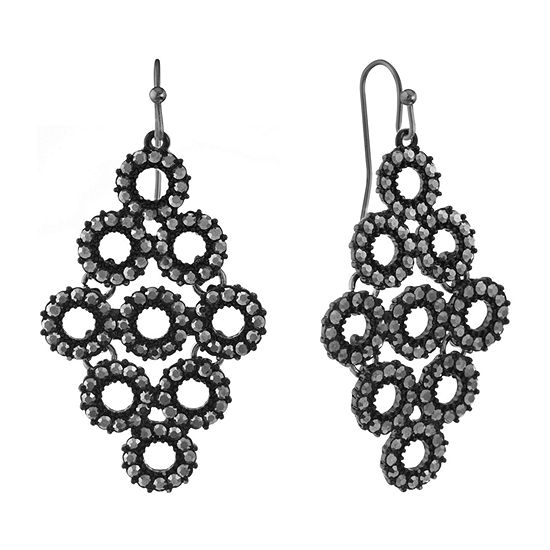 Liz Claiborne Round Chandelier Earrings