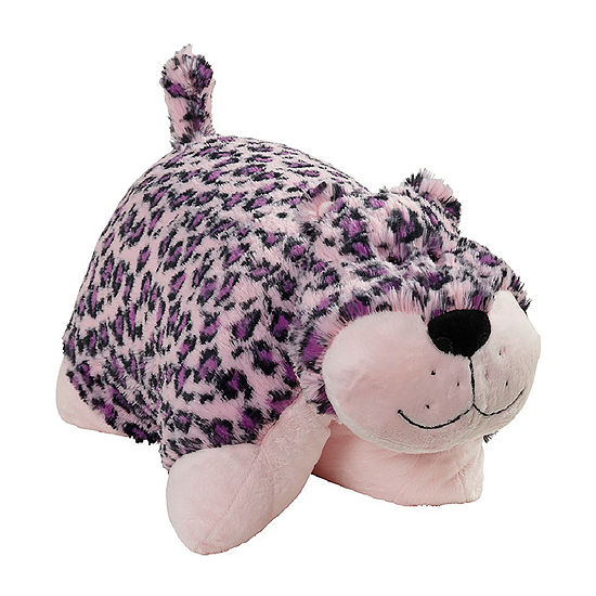 Pillow Pets Signature Jumboz  Lulu Leopard Oversized Plush Toy