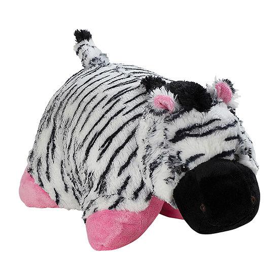 Pillow Pets Signature Jumboz Zippity Zebra Oversized Plush Toy