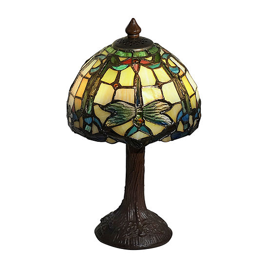Dale Tiffany Aveline Dragonfly Glass Table Lamp