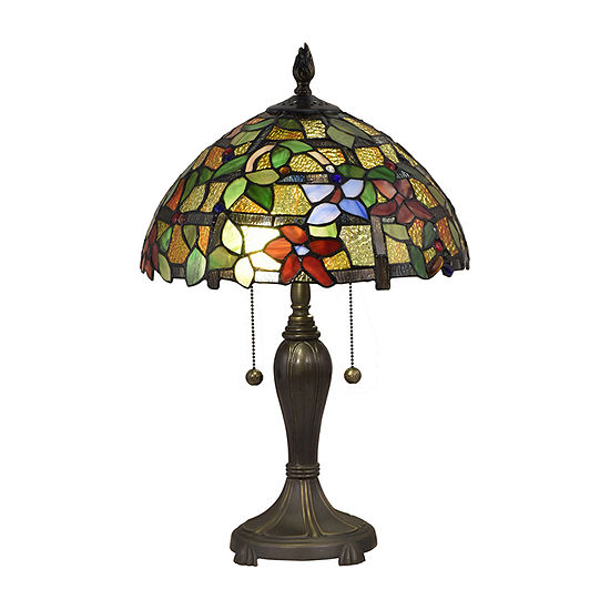 Dale Tiffany Bellevue Floral Glass Table Lamp