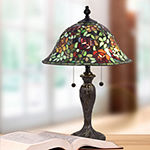 Dale Tiffany Crispin Rose Glass Table Lamp