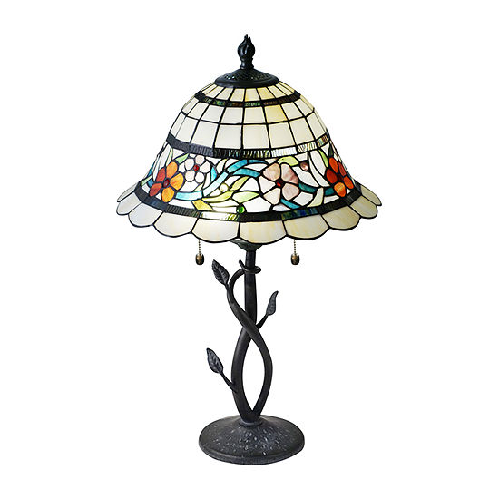Dale Tiffany Griselda Floral Glass Table Lamp