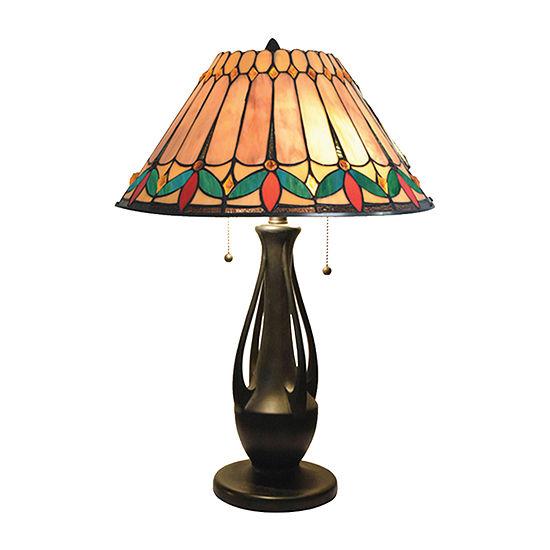 Dale Tiffany Leola Glass Table Lamp
