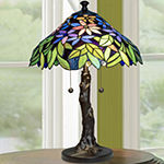 Dale Tiffany Norah Floral Glass Table Lamp