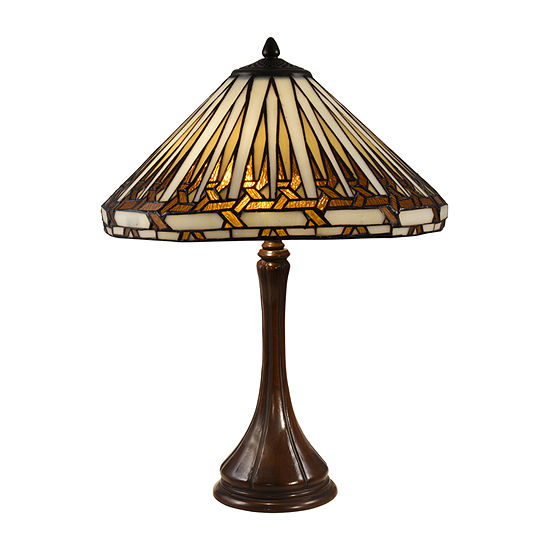 Dale Tiffany Palmdale Glass Table Lamp