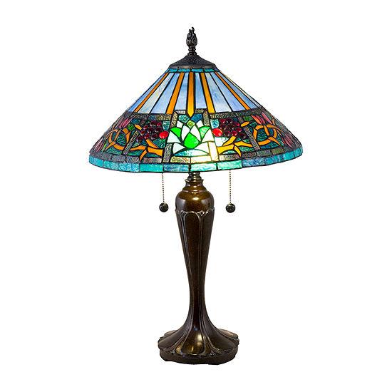 Dale Tiffany Riesa Glass Table Lamp