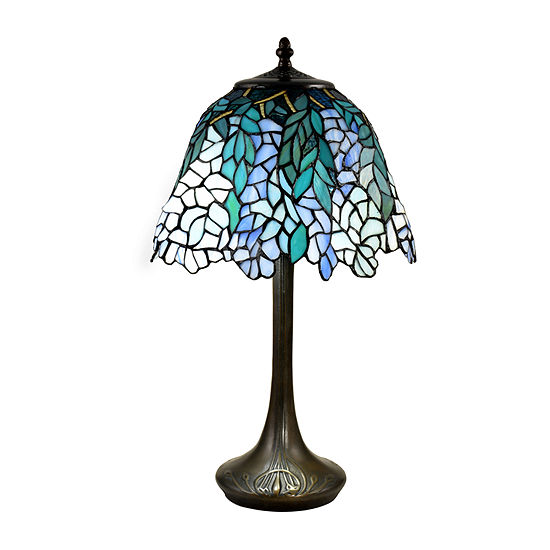 Dale Tiffany Roslyn Wisteria Glass Table Lamp