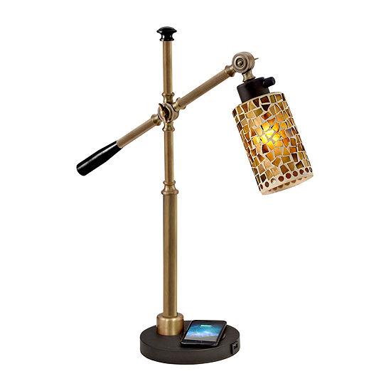 Dale Tiffany Sylvana Wireless Usb Charger Desk Lamp