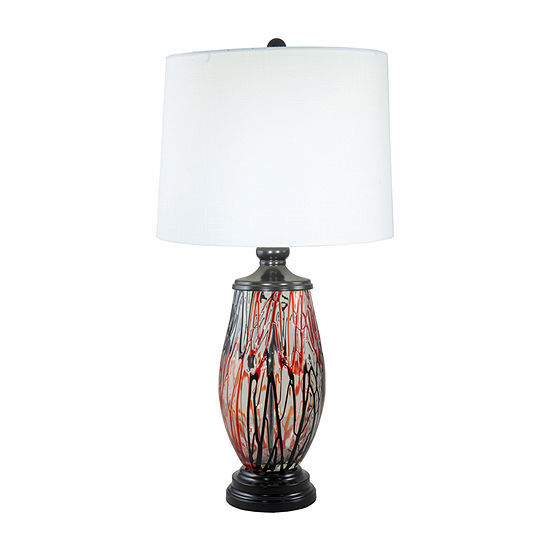Dale Tiffany Torrance Hand Blown Art Glass Crystal Table Lamp