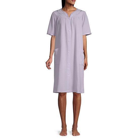Adonna Womens Knit Short Sleeve Robe