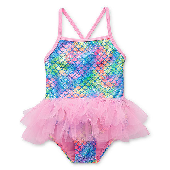 Okie Dokie Mermaid Toddler Girls One Piece Swimsuit