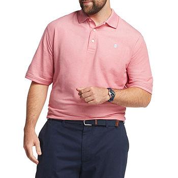 IZOD Mens Cooling Short Sleeve Polo Shirt - Big and Tall