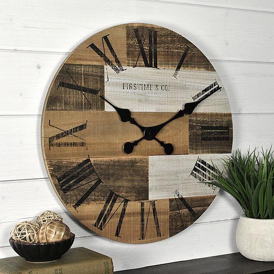 Firstime Pallets Wall Clock