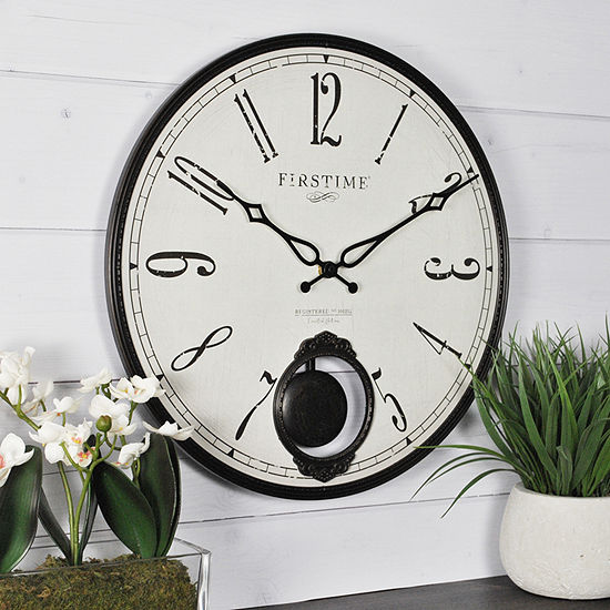 Firstime Bistro Pendulum Wall Clock