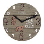 Firstime Cabin Life Wall Clock